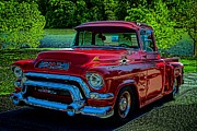 Gmc Posters - 1955 GMC 100 Pickup Truck Poster by Tim McCullough