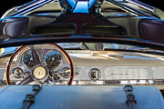 Gullwing Posters - 1955 Mercedes-Benz Gullwing Dashboard - Steering Wheel Poster by Jill Reger