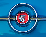 Old Photos Framed Prints - 1955 Mercury Monterey  Emblem Framed Print by Jill Reger