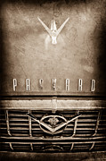 Collector Hood Ornament Posters - 1955 Packard 400 Hood Ornament - Grille Emblem Poster by Jill Reger