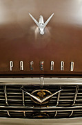 Car Mascots Framed Prints - 1955 Packard 400 Hood Ornament Framed Print by Jill Reger