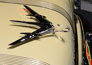 Motors Framed Prints - 1955 Pontiac Star Chief Hood Ornament Framed Print by Paul Ward