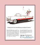Ww Ii Mixed Media Framed Prints - 1955 Vintage ad Packard Caribean Framed Print by Jack Pumphrey