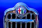 Sprint Prints - 1956 Alfa Romeo Sprint Veloce Coupe Ultra Light Grille Emblem Print by Jill Reger