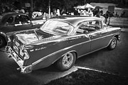 Club Framed Prints - 1956 Chevrolet Bel Air 210 BW Framed Print by Rich Franco