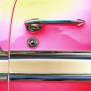 Old Door Digital Art Prints - 1956 Chevrolet Bel Air Print by Carol Leigh