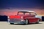 Lowered Posters - 1956 Chevrolet Bel Air Poster by Dave Koontz