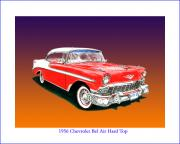 Chevrolet Paintings - 1956 Chevrolet Bel Air HT by Jack Pumphrey