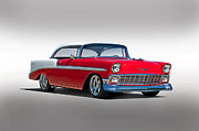 Lowered Posters - 1956 Chevrolet Bel Air Studio Poster by Dave Koontz