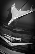 Custom Chevy Photos - 1956 Chevrolet Belair Convertible Custom V8 Hood Ornament by Jill Reger