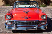 Bel Air Posters - 1956 Chevrolet Belair Convertible Custom V8 Poster by Jill Reger