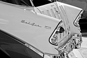 Belair Posters - 1956 Chevrolet Belair Nomad Rear End Taillights Poster by Jill Reger