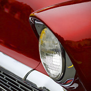 Headlamp Photos - 1956 Chevrolet Headlamp Square by Carol Leigh
