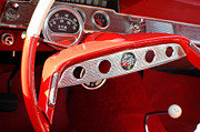 Collectible Sports Art Photos - 1956 Chevrolet Impala SS Steering Wheel by DJ Monteleone