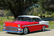 Custom Grill Photos - 1956 Chevy Bel Air West by Dave Koontz