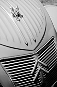 Collector Hood Ornament Posters - 1956 Citroen 2CV Hood Ornament - Grille Poster by Jill Reger