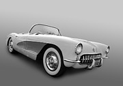 Garage Wall Art Posters - 1956 Corvette Poster by Bill Dutting