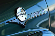 Classic Car Photography Art - 1956 Ford F-100 Truck Emblem by Jill Reger