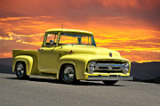Custom Ford Metal Prints - 1956 Ford Pick Up Metal Print by Dave Koontz