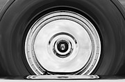 1956 Framed Prints - 1956 Ford Thunderbird Spare Tire Emblem Framed Print by Jill Reger