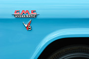 Gmc Photos - 1956 GMC 100 Deluxe Edition Pickup Truck Emblem by Jill Reger