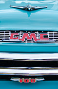 Gmc Photo Posters - 1956 GMC 100 Deluxe Edition Pickup Truck Poster by Jill Reger