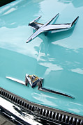 Car Photos Prints - 1956 Mercury Monterey Hood Ornament Print by Jill Reger