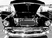 Black And White Photos Digital Art - 1956 Midnight Black Chevy by Deborah Fay