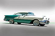Family Car Posters - 1956 Oldsmobile Rocket 88 Poster by Dave Koontz