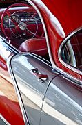 Oldsmobile Photos - 1956 Oldsmobile Steering Wheel by Jill Reger