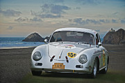 Rally Prints - 1956 Porsche Rally Car Print by Dave Koontz