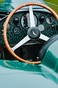 Vintage Sports Cars Framed Prints - 1957 Aston Martin DBR2 Steering Wheel Framed Print by Jill Reger
