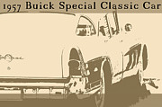Custom Buick Framed Prints - 1957 Buick Special Classic Car Framed Print by Tommy Hammarsten