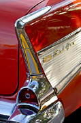 Autos Posters - 1957 Chevrolet Belair Taillight Poster by Jill Reger