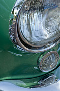1957 Corvette Prints - 1957 Chevrolet Corvette Head Light Print by Jill Reger