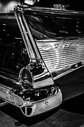 Bel Air Prints - 1957 Chevy Bel Air Tail Fin Print by Paul Velgos