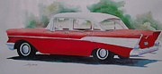 57 Chevy Painting Framed Prints - 1957 Chevy Framed Print by John  Svenson