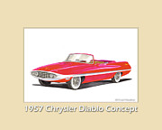 Travel Photography Painting Prints - 1957 Chrysler Diablo Convertible Coupe Print by Jack Pumphrey