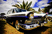 Ford Sedan Framed Prints - 1957 Ford Custom Framed Print by motography aka Phil Clark