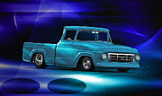 Custom Ford Metal Prints - 1957 Ford F100 Pick Up Metal Print by Dave Koontz