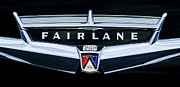 Vintage Cars Art - 1957 Ford Fairlane Convertible Emblem by Jill Reger