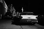 Moonlit Night Posters - 1957 Ford Noir Poster by Laura  Fasulo