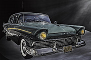 Photo Paint Pyrography Prints - 1957 Ford Print by Paul Pascal