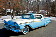 Family Car Framed Prints - 1957 Ford Skyliner Framed Print by Dave Koontz