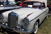 European Car Photos - 1957 Mercedes Benz 220S Cabriolet 5D23317 by Wingsdomain Art and Photography