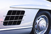 Mercedes Benz 300 Sl Classic Car Prints - 1957 Mercedes-Benz 300 SL Gullwing Wheel Emblem Print by Jill Reger