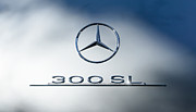 Mercedes Benz 300 Sl Classic Car Prints - 1957 Mercedes-Benz Gullwing 300 SL Emblem Print by Jill Reger