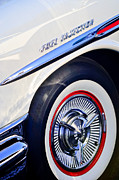 Classic Car Photography Posters - 1957 Pontiac Bonneville Wheel Poster by Jill Reger