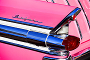Chrome Prints - 1957 Pontiac Safari Two-Door Wagon Print by Carol Leigh