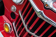 Car Photography Posters - 1957 Willys Jeep 6-226 Wagon Grille Emblem Poster by Jill Reger